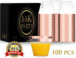 elegant plastic cups silver for party