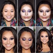 cara makeup natural muka bulat