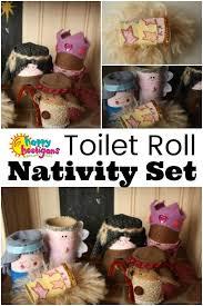 diy cardboard roll nativity set