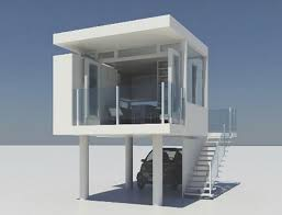 modern tiny house plans with garage