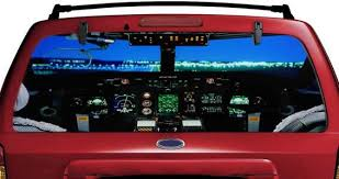 Cockpit Airplane See Through Car Window Decals Dezign With A Z