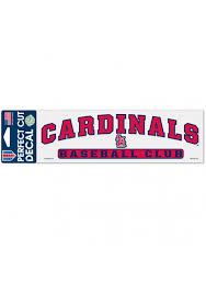 St Louis Cardinals Arched Auto Decal Red 5714625