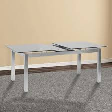 ivan gray tempered glass top extendable