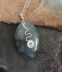 green onyx agate pendant necklace