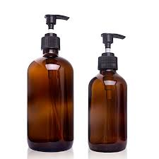 whole glass shampoo bottles