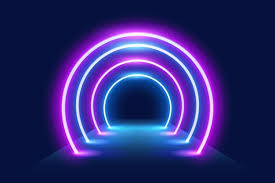 wallpaper with neon lights free vector