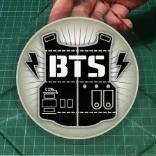 Bts K Pop Group K Wave Removable Static Cling Decal 11cm Diameter Free Normal Mail Car Accessories Accessories On Carousell