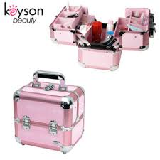 small aluminum makeup kit organizer box