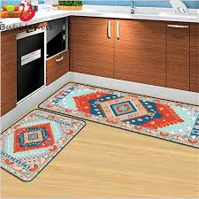 Bubble Kiss Kitchen Rug Bohemian Colorful Rugs For Bedroom Geometric Ethnic Style Blue Orange Carpet Kids Room Area Rug Carpet Aliexpress