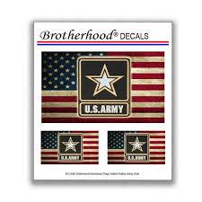 Decals United States Army Go Army American Flag Car Window Etsy