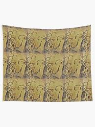 """art deco sepia flapper girl lady art design by jackie smith for house of  harlequin"""" Tapestry by jacquline8689 
