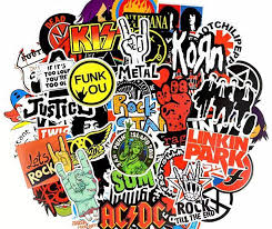 100 Pcs Rock Band Vintage 90s Sticker Music Retro Band Etsy Music Stickers Retro Band Band Stickers