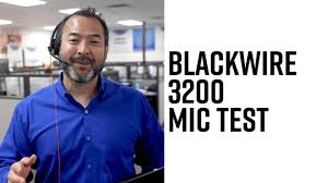 Blackwire 3200 Series - Mic Test! - YouTube