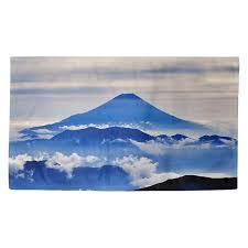 Shop Katelyn Smith Mt. Fuji in Blue Dobby Rug - Overstock - 27172660