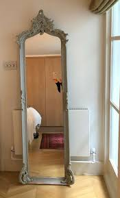 painted french full length mirror