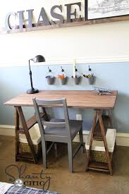 diy sawhorse desk for 50 diy desk
