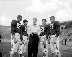 Wisconsin Quarterbacks with Head Coach   Photograph   Wisconsin Historical  Society