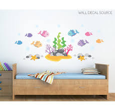 Wall Decal Source Under The Ocean Fish Under The Sea Rock And Coral Vinyl Wall Decal Wayfair