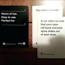 cats was playing cards against humanity