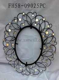 iron metal mirror frame home wall