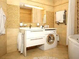 washing machine in a small bathroom
