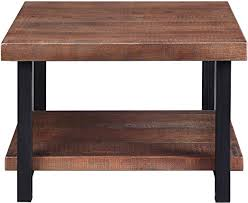 square coffee table solid wood tabletop