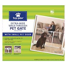 Top Paw Extra Wide Pet Gate Dog Dog Doors Gates Petsmart