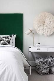 white and green bedroom colors