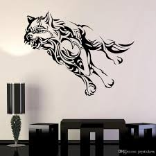 Wolf Wall Decal Office Animal Running Predator Coyote Werewolf Vinyl Wall Sticker For Living Room Bedroom Decor Accessories Wall Decals Art Wall Decals Canada From Joystickers 10 76 Dhgate Com