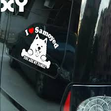 Samoyed Dog Sticker For Car Stickers And Vinyl Decals Laptop Sticker Decal Motorcycle Skateboard Funny Vinyl Stickers Stickers For Your Phone Sticker Sealstickers Image Aliexpress