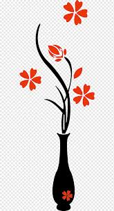 Vase Wall Decal Decorative Arts Sticker Vase Flower Vase Decorative Mural Png Pngwing