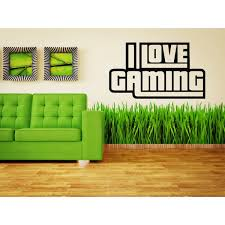 Shop I Love Gaming Gamer Geek Games Wall Art Sticker Decal Overstock 11412387
