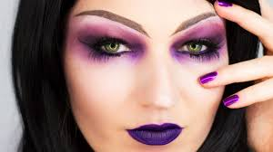 sorceress purple witch makeup