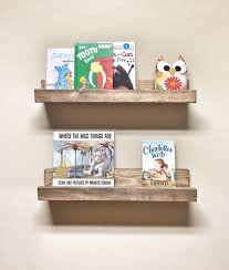 Set Of 2 Picture Ledge Shelves 24 Inch Floating Shelves Nursery Kids Room Shelf Toy Book Shelf Rustic Wood Shelves Gallery Wall Shelf