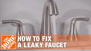 how to fix a leaky faucet the home depot