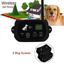 Buy Aisence Wireless Dog Fence Waterproof Rechargeable Electric Dog Collar Containment 1 3 Dog System For Outdoor Dog Training 2 Dog System Features Price Reviews Online In India Justdial