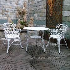 3 piece cast aluminum patio bistro set