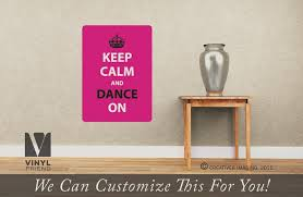 Keep Calm And Dance On Car Decal Vinyl Sticker Or Wall Decal 2490