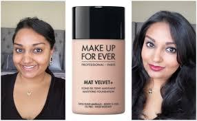 makeup forever mat velvet oil free
