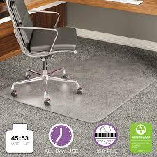 45 x 53 chair mat for high pile carpet
