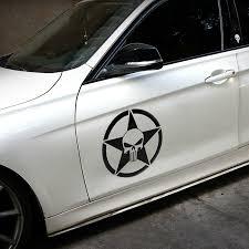 Skull The Punisher Willys Star Car Auto Vinyl Door Decal Sticker Reflective New Ebay