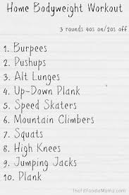 bodyweight workout the fit foo mama