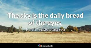 ralph waldo emerson the sky is the daily b of the