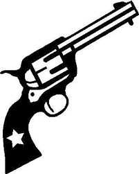 Six Shooter Pistol Decal Sticker