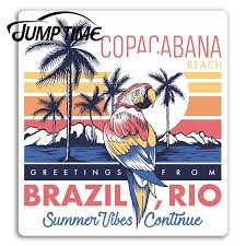 Hot Discount C89d Jump Time Copacabana Rio Brazil Travel Vinyl Stickers Sticker Luggage Decal Decor Window Bumper Waterproof Cicig Co