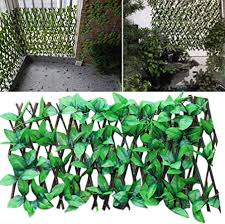Artificial Leaf Faux Ivy Expanding Trellis Fence Retractable Fence Plant Fence Uv Protected Privacy Screen For Outdoor Indoor Use Garden Fence Backyard Home Decor Greenery Walls Amazon Co Uk Kitchen Home