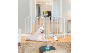 Up To 48 Off On Wooden Pet Gate Tall Freesta Groupon Goods