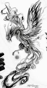 Phoenix Sketch Tattoo Ideen Com Imagens Tatuagem Phoenix