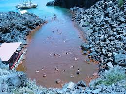 santorini volcano hot springs and