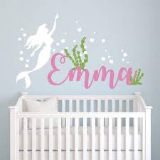 The Little Mermaid Dream With Name Girls Wall Decal Jack And Jill Boutique